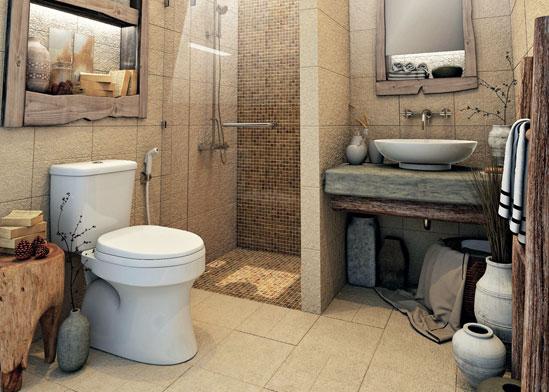 แบบห้องน้ำแนววินเทจ แนวธรรมชาติในบรรยากาศห้องน้ำส่วนตัว